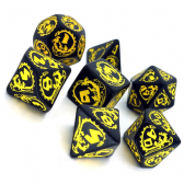 Black & Yellow Dragons Dice Set